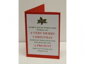 Gift Card 500g Composting/Wormery Worms in bedding