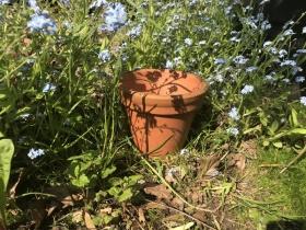 Double rim Victorian flower pot