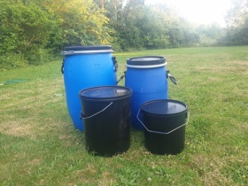 Image of 60 litre blue tub for life